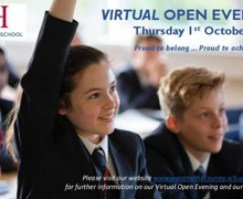 Open Evening Postcard 2020